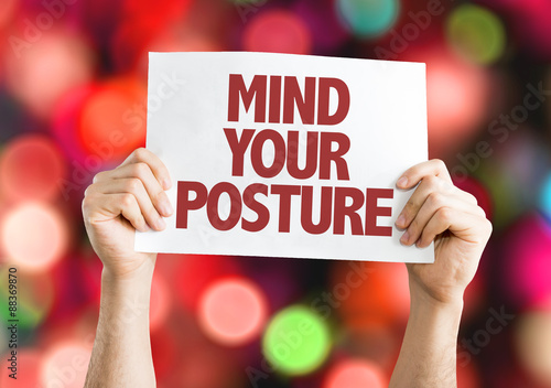 Mind Your Posture card with bokeh background Canvas