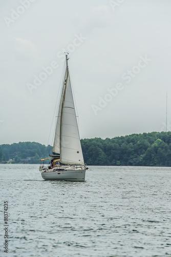 Fotografie, Obraz  sail boat on large lake