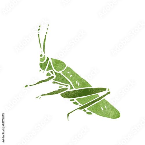 Obraz na płótnie retro cartoon grasshopper