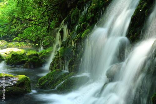 Keuken foto achterwand Watervallen 秋田県 夏の元滝伏流水