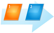 Two Blank Business Diagram Slanted Sequence Illustration
