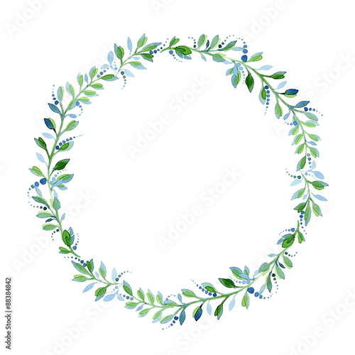 Watercolor floral frame - Buy this stock illustration and explore ...