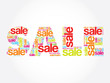 SALE Word, vector words cloud, business concept