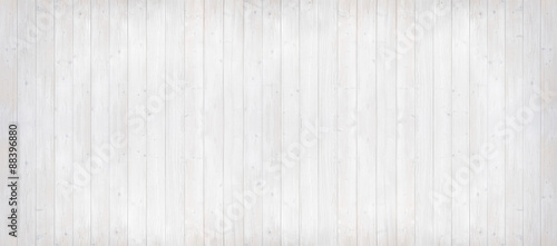Fototapeta Holzwand hell gestrichen, Panoramaformat obraz