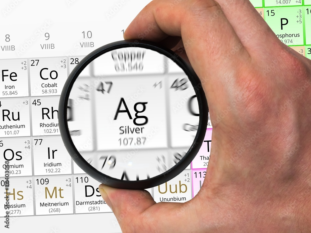 Photo Art Print Silver Symbol Ag Element Of The Periodic Table