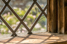 Leaded Light Window Sill From Period Building