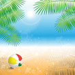 Summer Background - Vector Illustration, Graphic Design