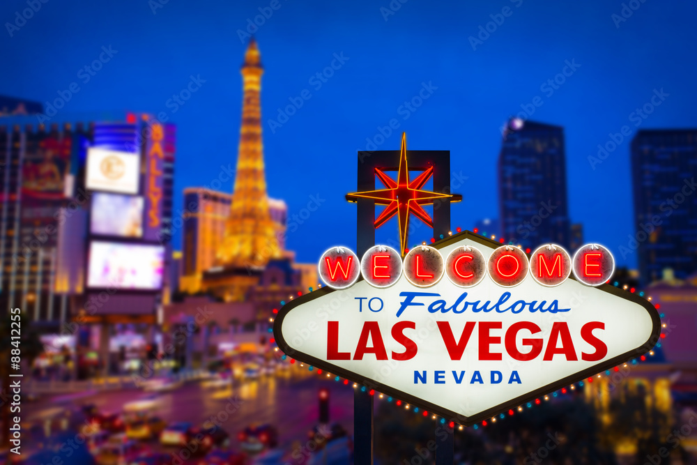 Photo & Art Print Welcome to fabulous Las vegas Nevada sign with ...