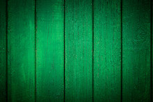 Vignetted Green Wooden Background