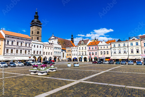 Main square in Ceske Budejovice-Czech Republic