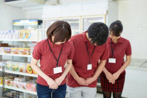Fotografie, Tablou お辞儀する店員