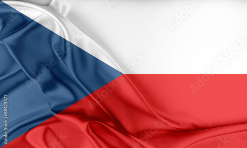 Czech Republic Flag. Fotobehang