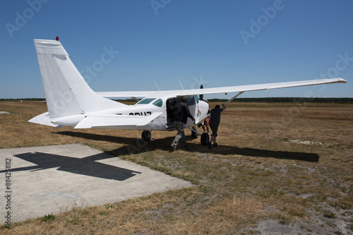 Fotografia, Obraz  Skydiving plane. After landing .