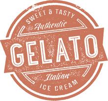 Vintage Italian Gelato Ice Cream Stamp