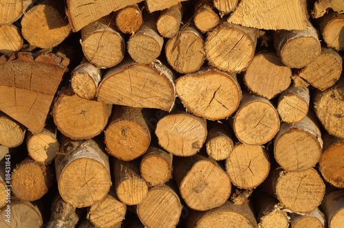 Obraz drewno do kominka  - fototapety do salonu