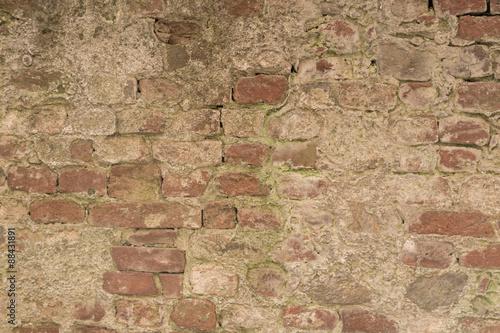 Foto auf AluDibond Alte schmutzig texturierte wand Hintergrund - Ziegelsteinmauer