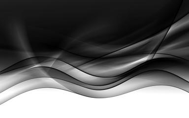abstrakcja czarne tło fala