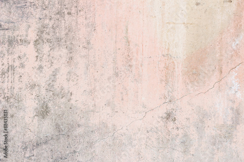 Fotografia, Obraz  Worn pale pink concrete wall texture background with paint partly faded