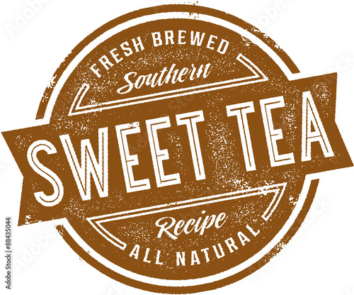 Southern Sweet Tea Vintage Sign Wall mural