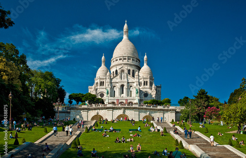 Fotografie, Obraz Sacre Coeur Cathedral on Montmartre, Paris, France