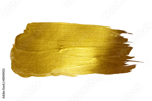 Obraz Gold Shining Paint Stain Hand Drawn Illustration - fototapety do salonu