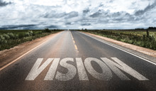 Vision Written On Rural Road