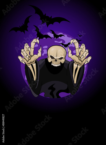 Printed kitchen splashbacks Fairytale World Halloween horrible Grim Reaper