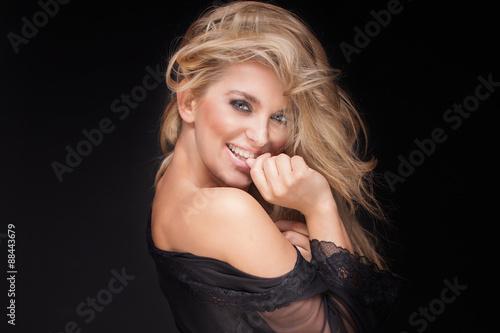 Fotografie, Tablou  Beauty portrait of sensual blonde woman.