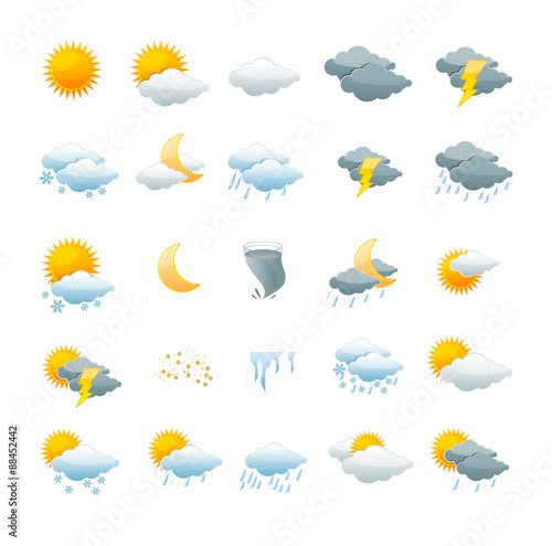 Wetter-Icon-Set Fototapete