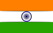 Indian Tri Color Flag With Ash...
