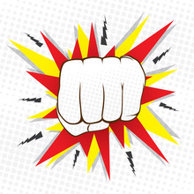 Abstract Hit Hand Punch Design  Vector