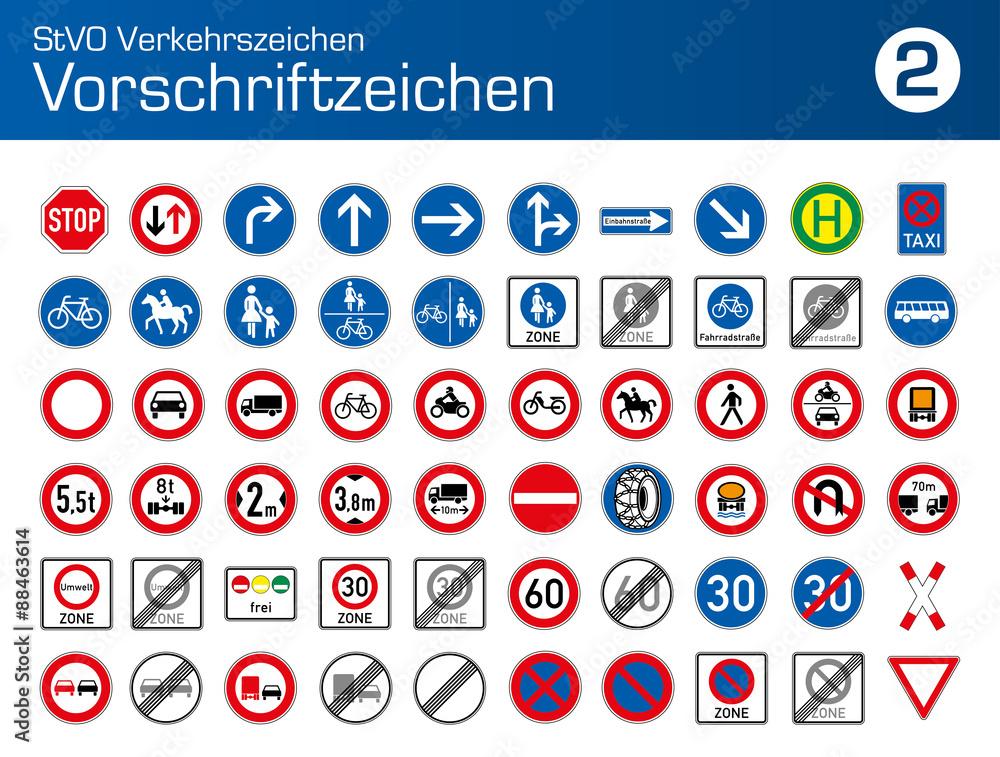 stvo verkehrszeichen vorschriftzeichen auto pkw lkw
