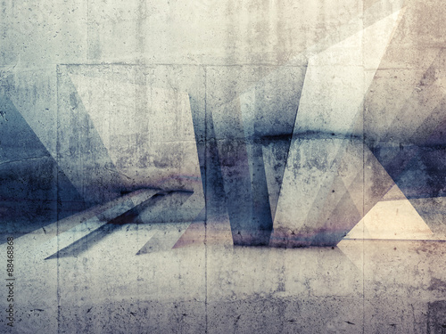 Abstract 3d grungy concrete wall background