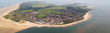 canvas print picture - Borkum - Blick über die Insel