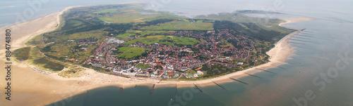 Tuinposter Noordzee Borkum - Blick über die Insel