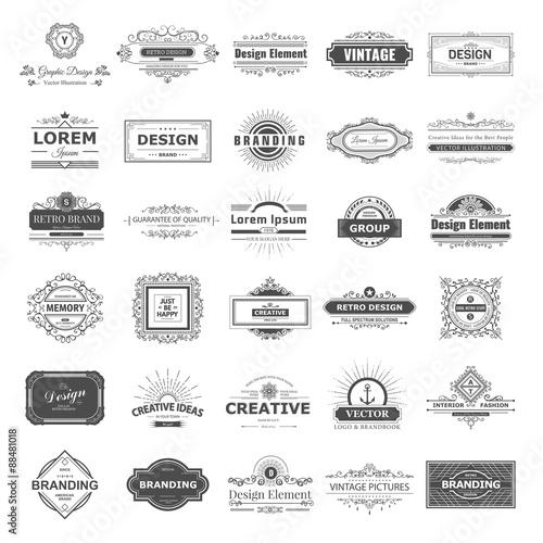 Fotografía  Design logo and monograms