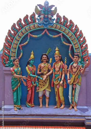 Photo  one of sculpture composition on the gates to Batu caves, Kuala