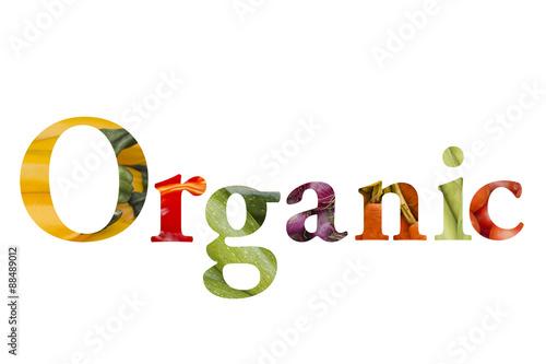 Fotografie, Obraz  Organic Food Graphic