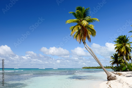 Deurstickers Strand Amazing view of Caribbean beach with white sand and beautiful ex