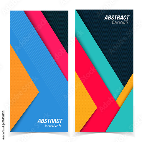 Fototapety, obrazy: Abstract banners.