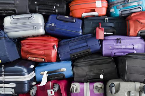 Obraz na plátně Suitcases stacked