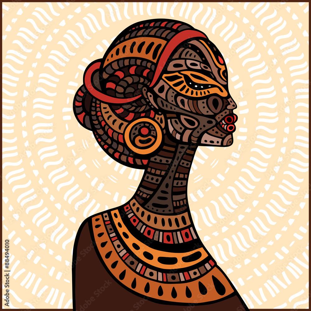 Photo Profile of beautiful African woman.