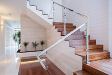 Stylish Staircase In Bright In...