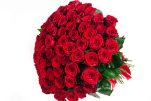 Isolated Large Bouquet Of 101 ...