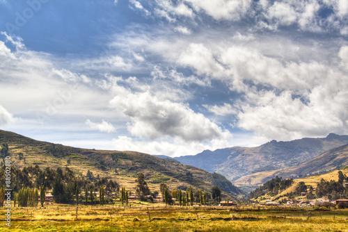 Fotografie, Obraz  View over the sacred valley near Cuzco, Peru