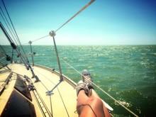 Relaxing Sailing Girl