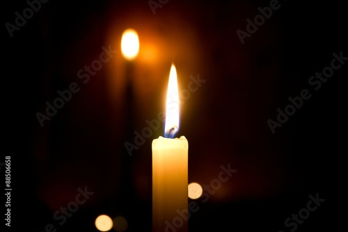 Just candlelight Canvas Print