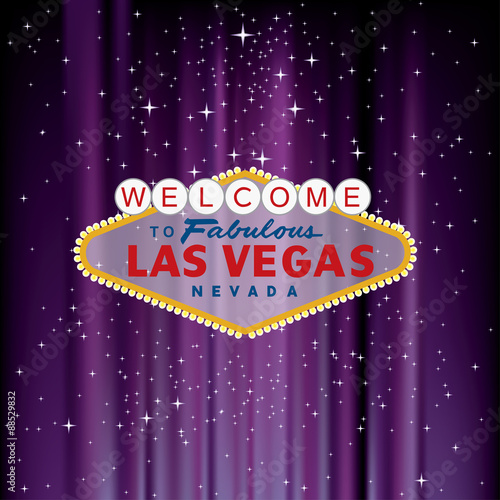 purple vegas welcome Canvas Print