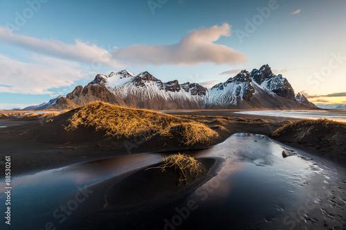 Foto auf Gartenposter Insel Vesturhorn Mountain, Iceland