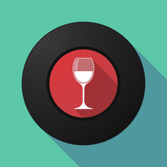 FototapetaVinyl record with a cup of wine